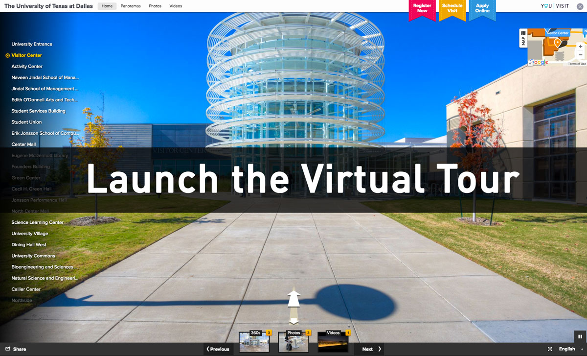 Launch the virtual tour.